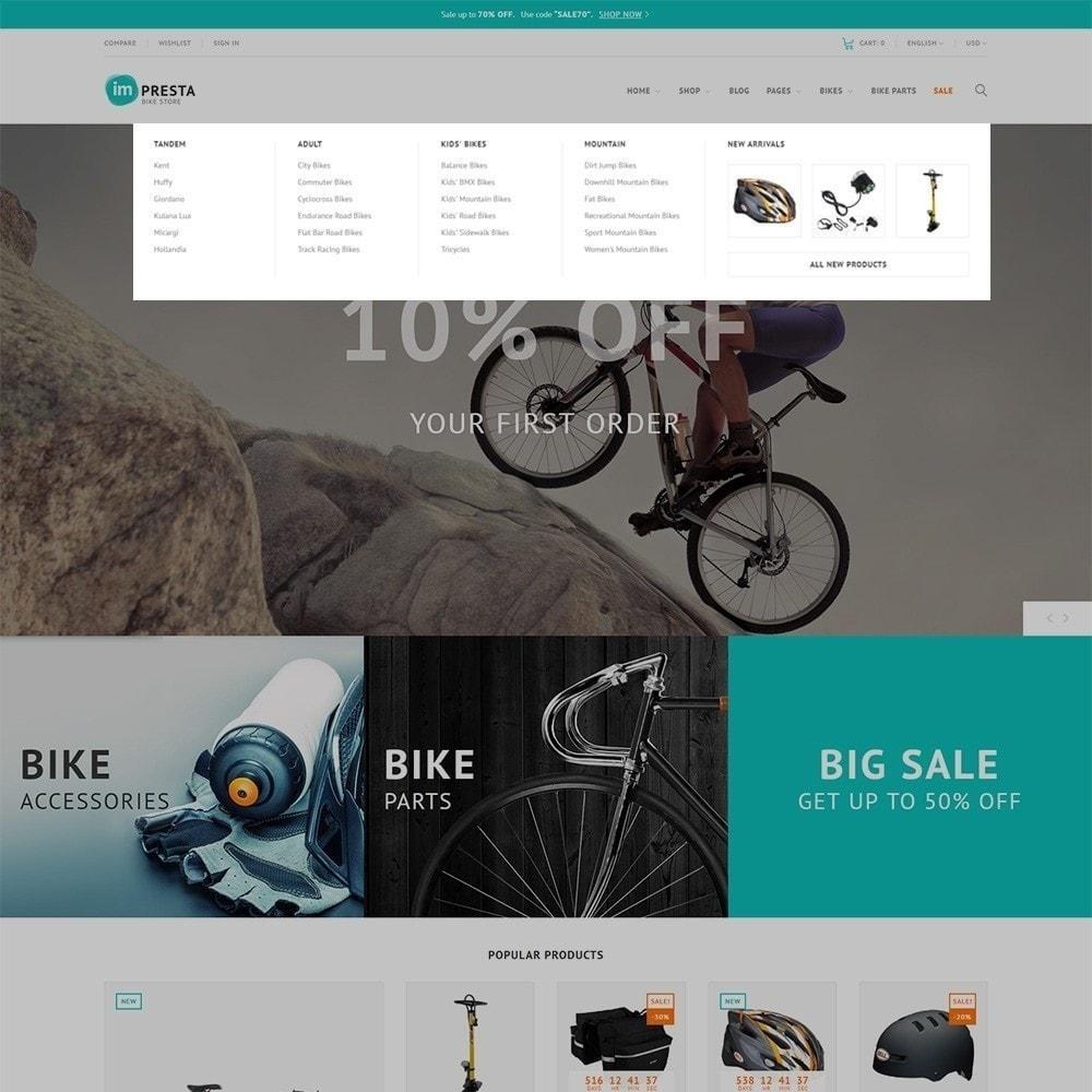theme - Sport, Attività & Viaggi - Impresta - per Un Sito di Negozio di Biciclette - 6