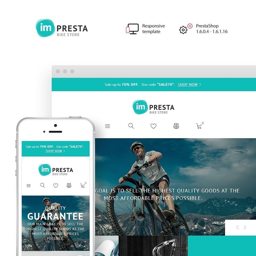 theme - Спорт и Путешествия - Impresta - шаблон для магазина велосипедов - 2