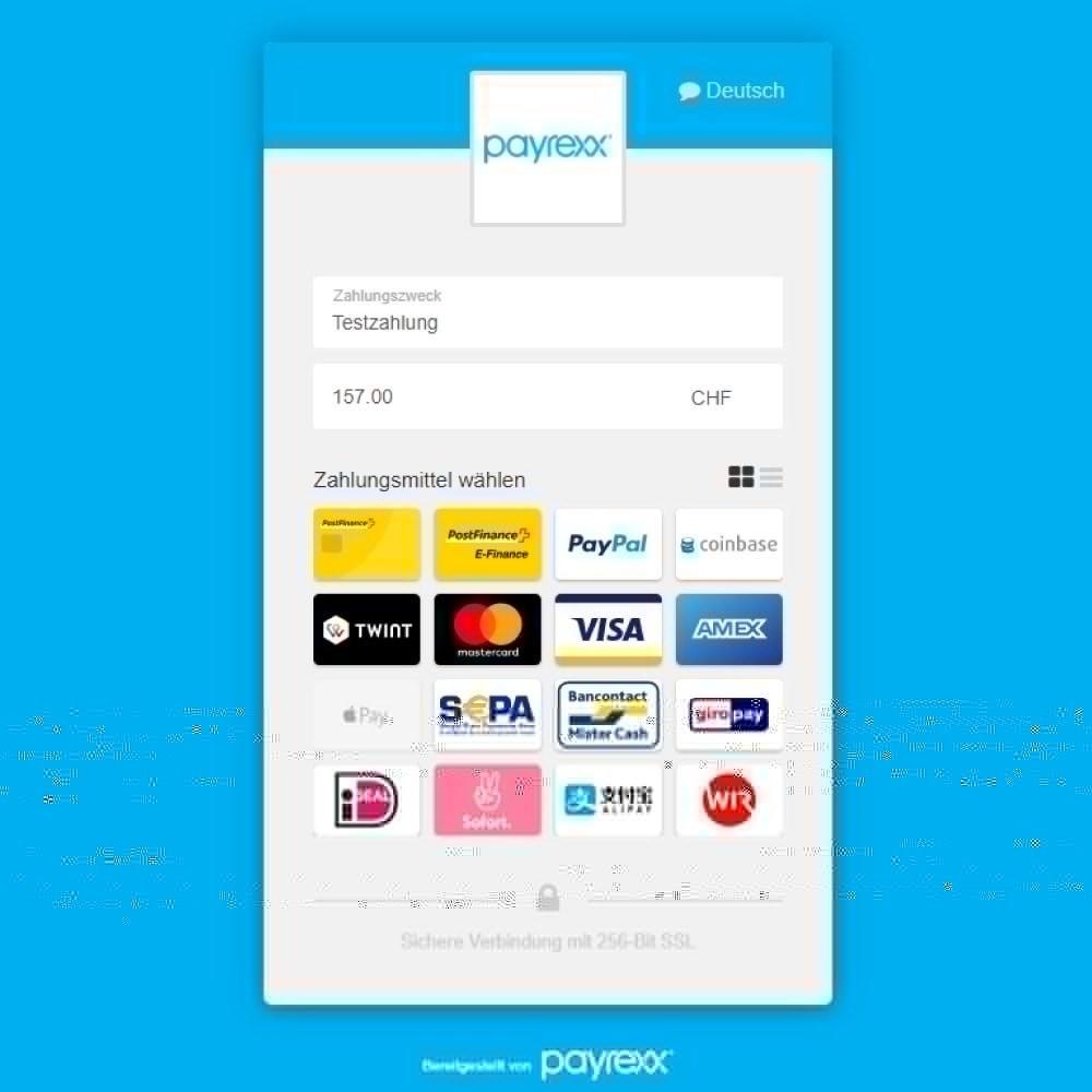 module - Zahlung per Kreditkarte oder Wallet - Payrexx Payment Gateway - 3