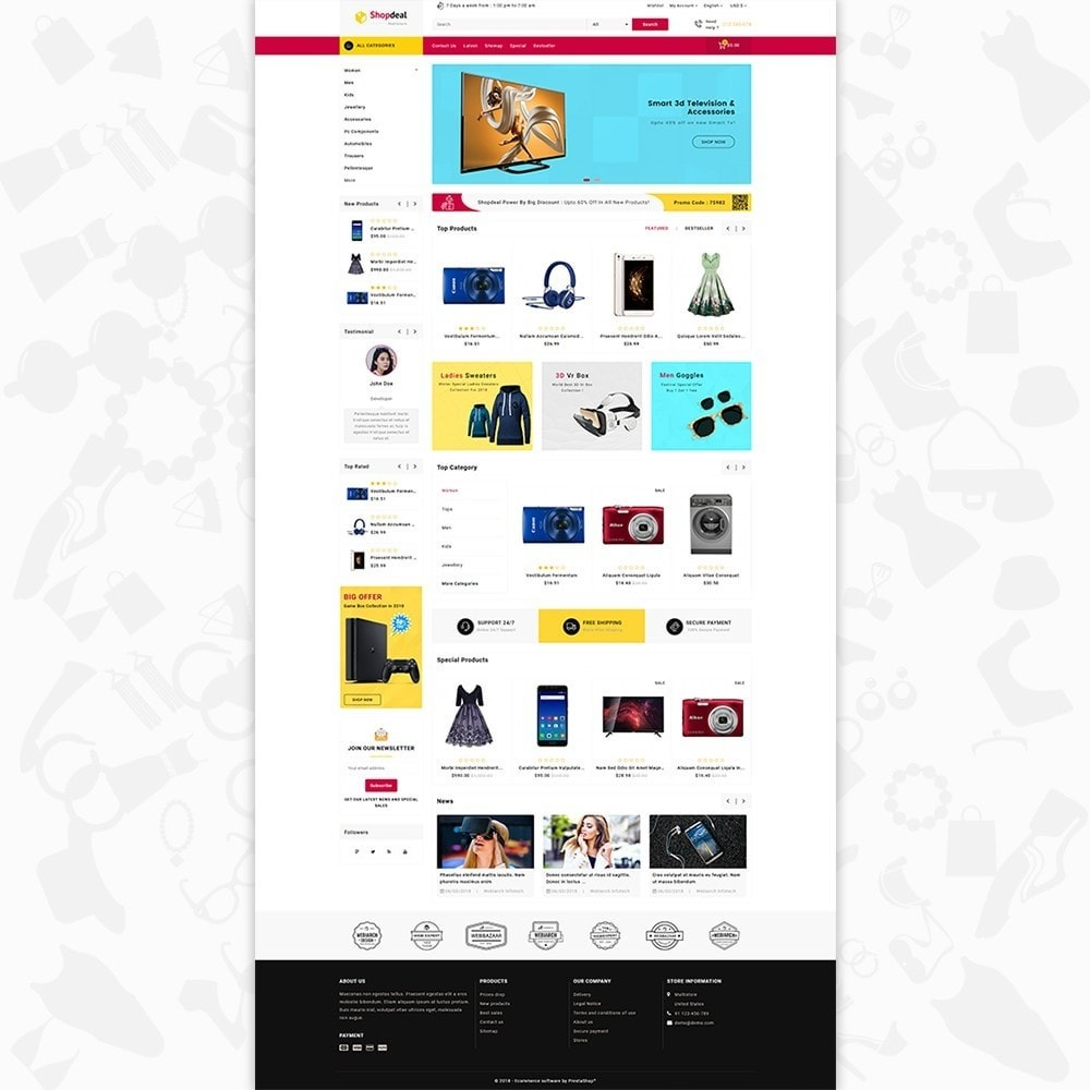theme - Elektronica & High Tech - Shopdeal - The Multistore Template - 2