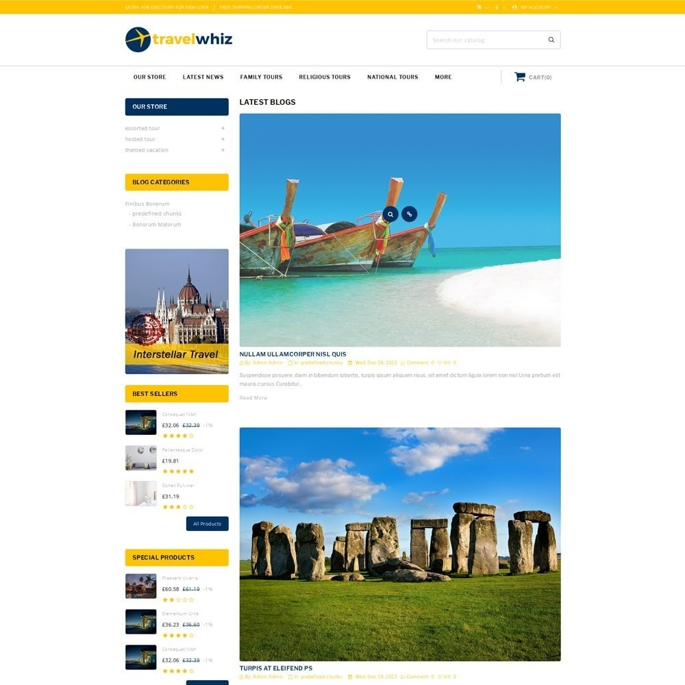 theme - Sport, Aktivitäten & Reise - Travelwhiz - The Travel Website - 7