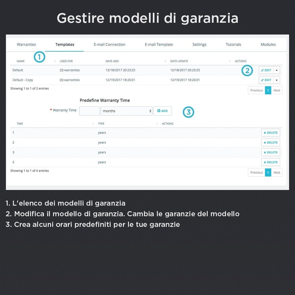 module - Gestione Ordini - Garanzia del Prodotto Pro - 13