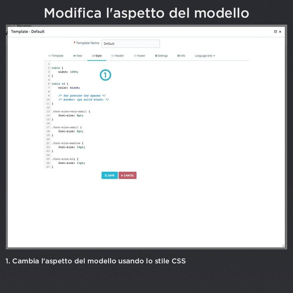 module - Gestione Ordini - Garanzia del Prodotto Pro - 16
