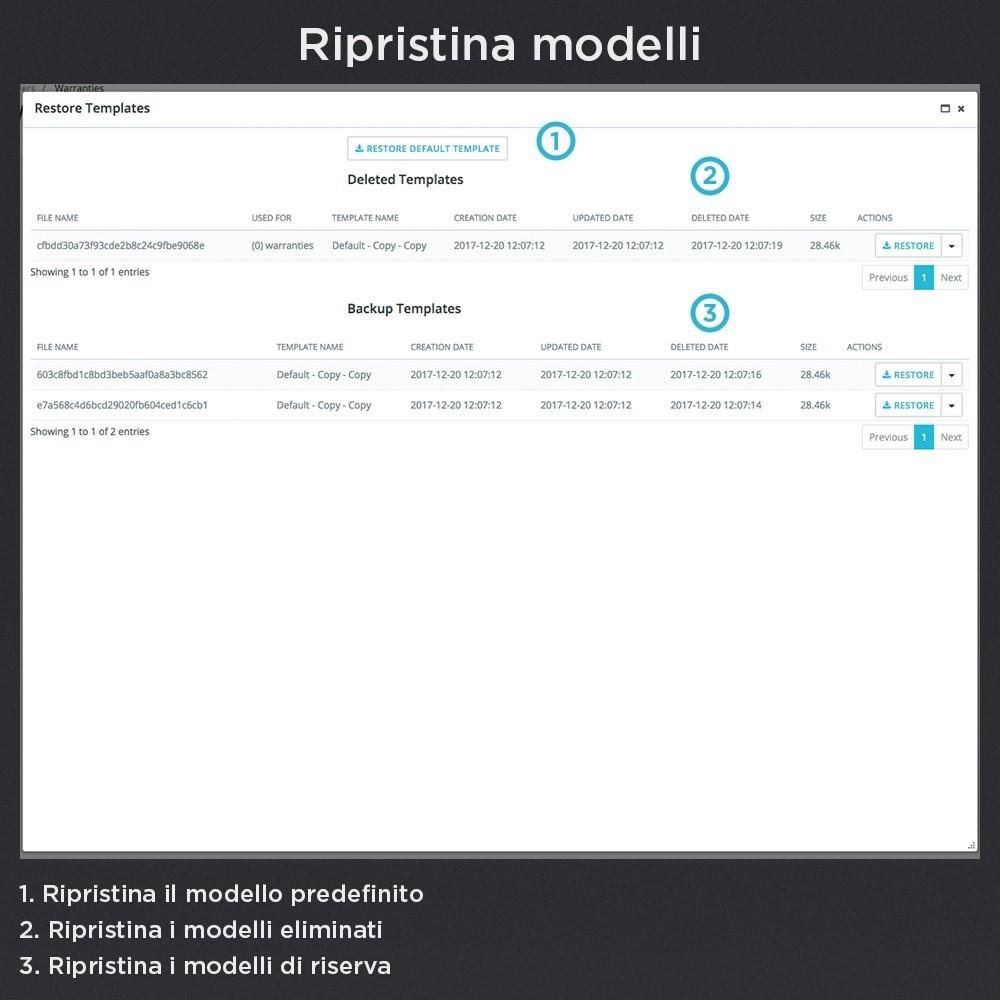 module - Gestione Ordini - Garanzia del Prodotto Pro - 24