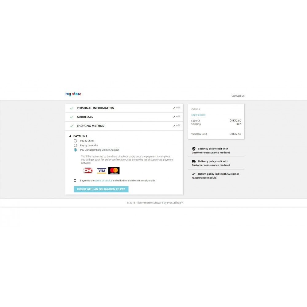 module - Payment by Card or Wallet - Bambora Europe By WizeProc - 1