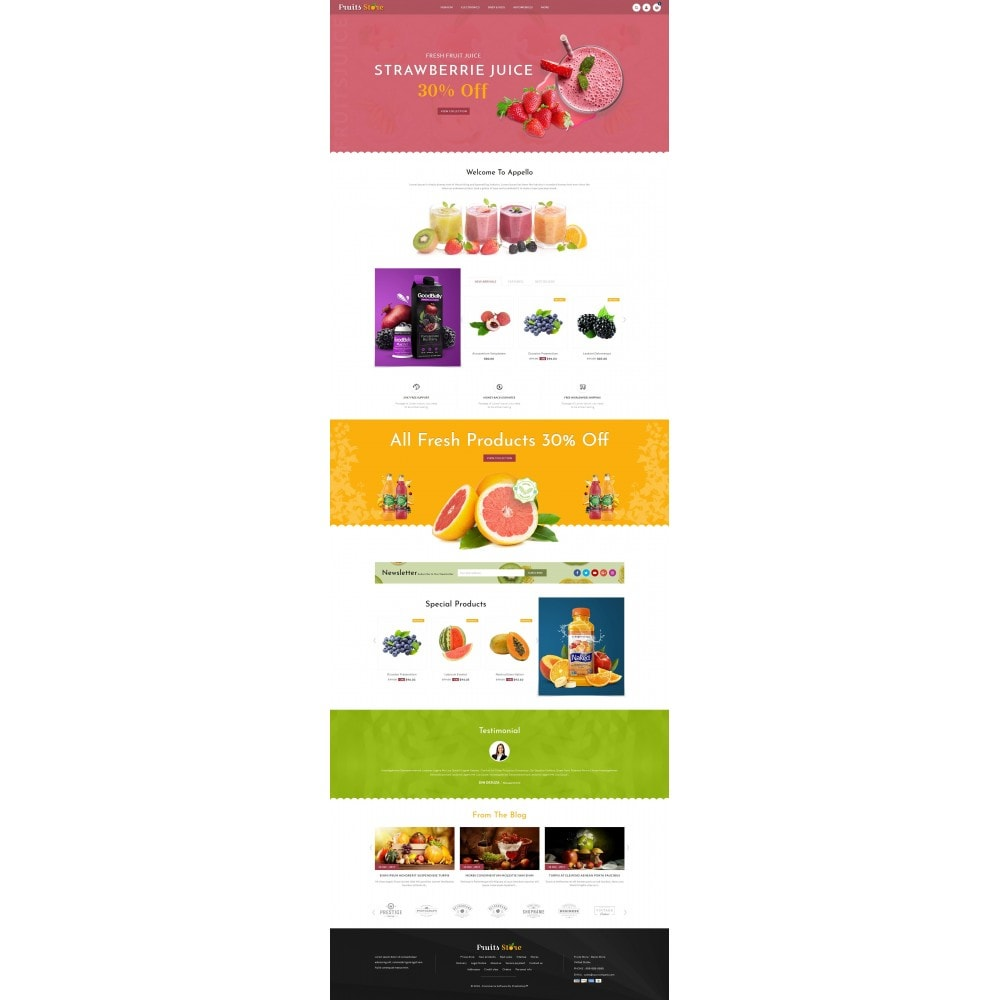 theme - Alimentos & Restaurantes - Fruits Store - 2