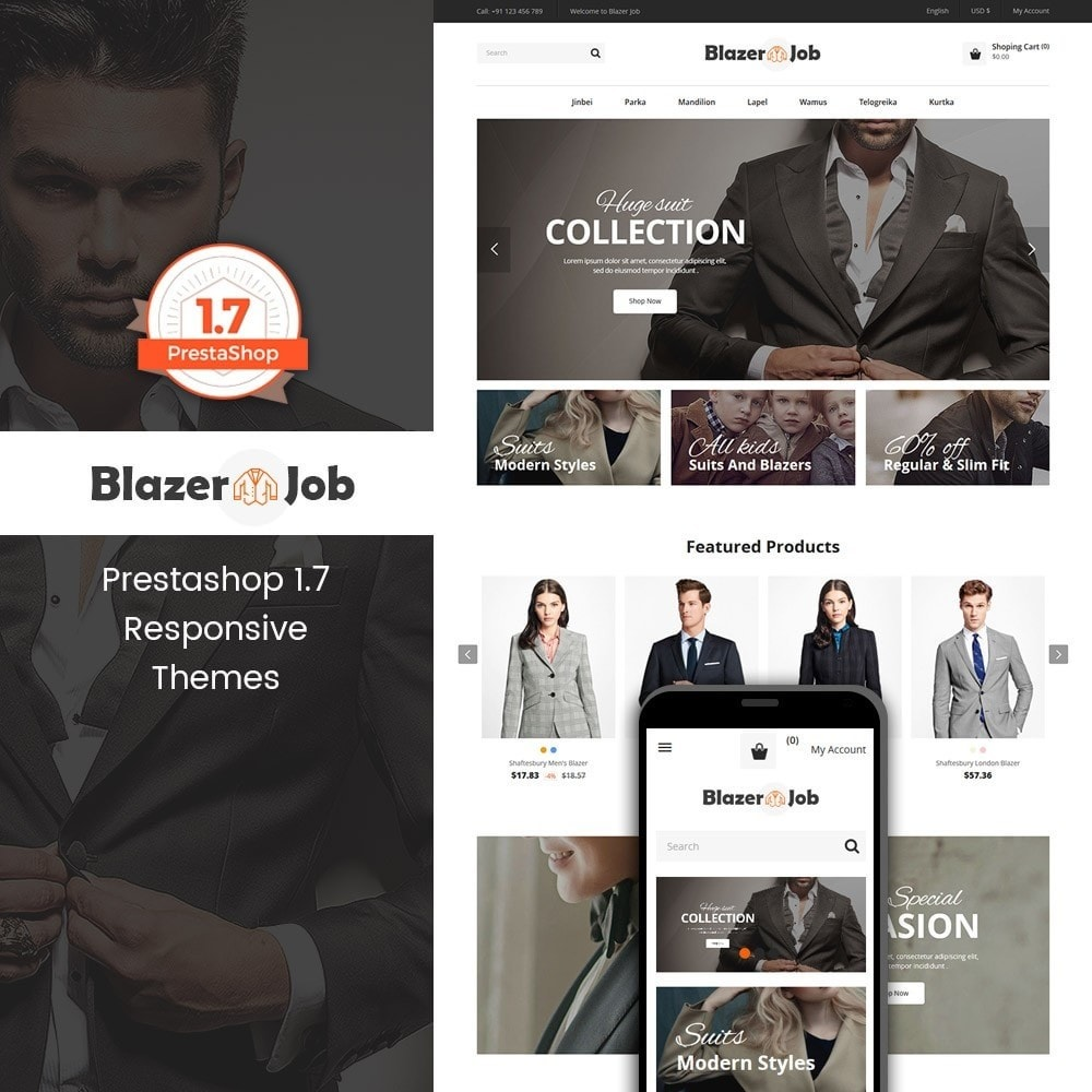 theme - Мода и обувь - Blazerjob Fashion Store - 1