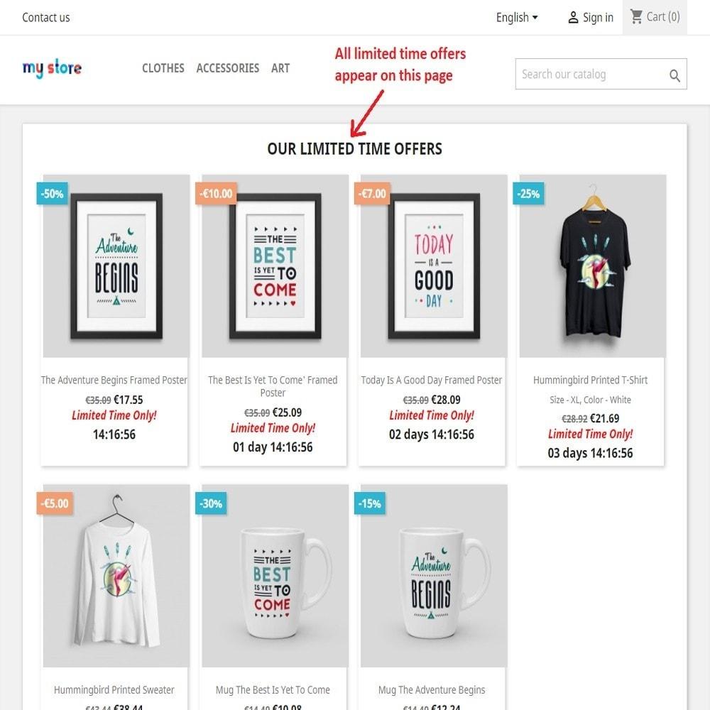 module - Закрытых и рекламных распродаж - Limited time offers - 3