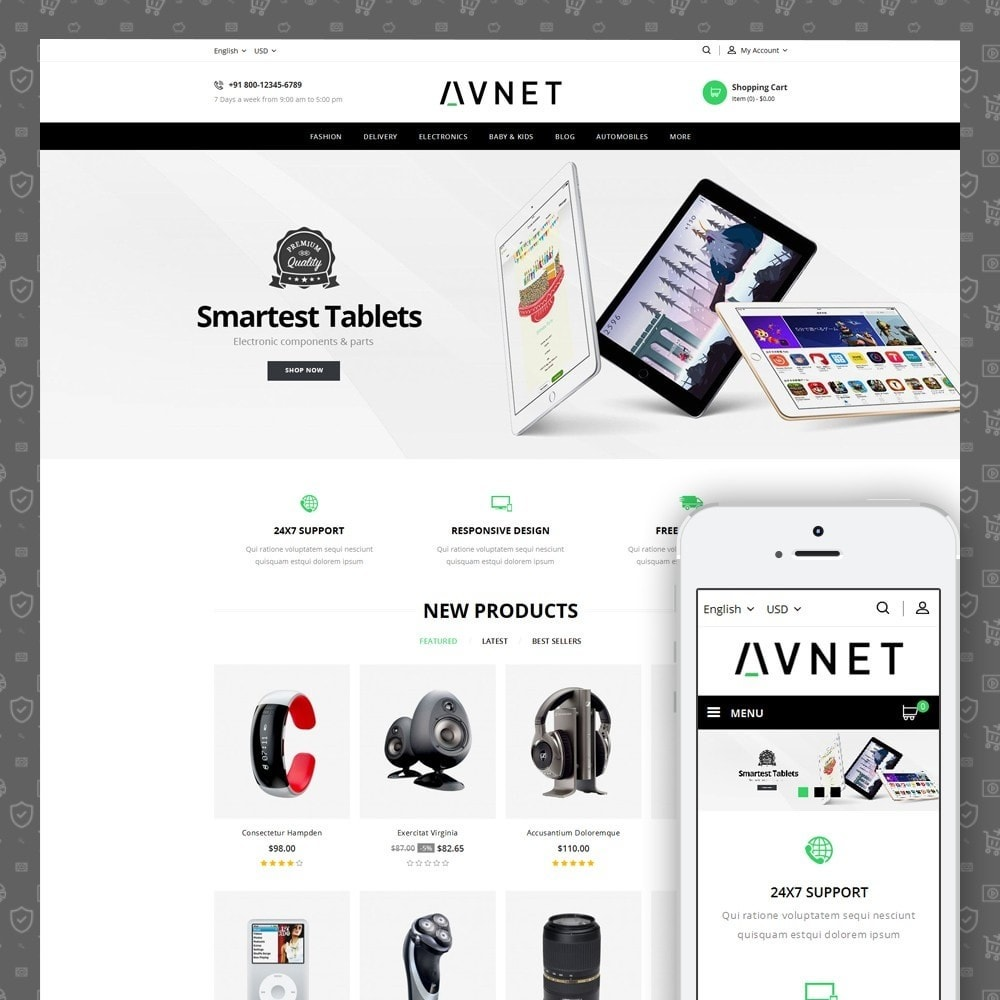 theme - Elektronik & High Tech - Avnet - Electronics Store - 1