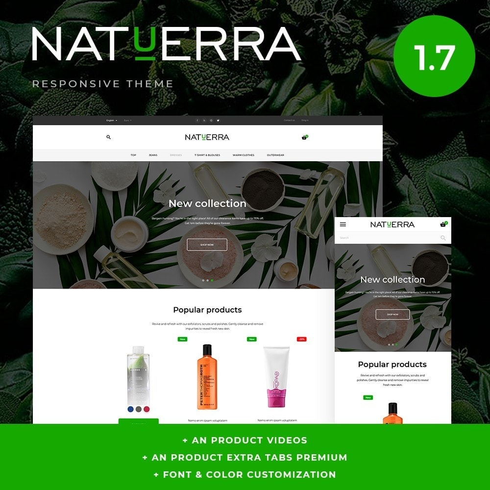 theme - Health & Beauty - Natuerra Cosmetics - 1