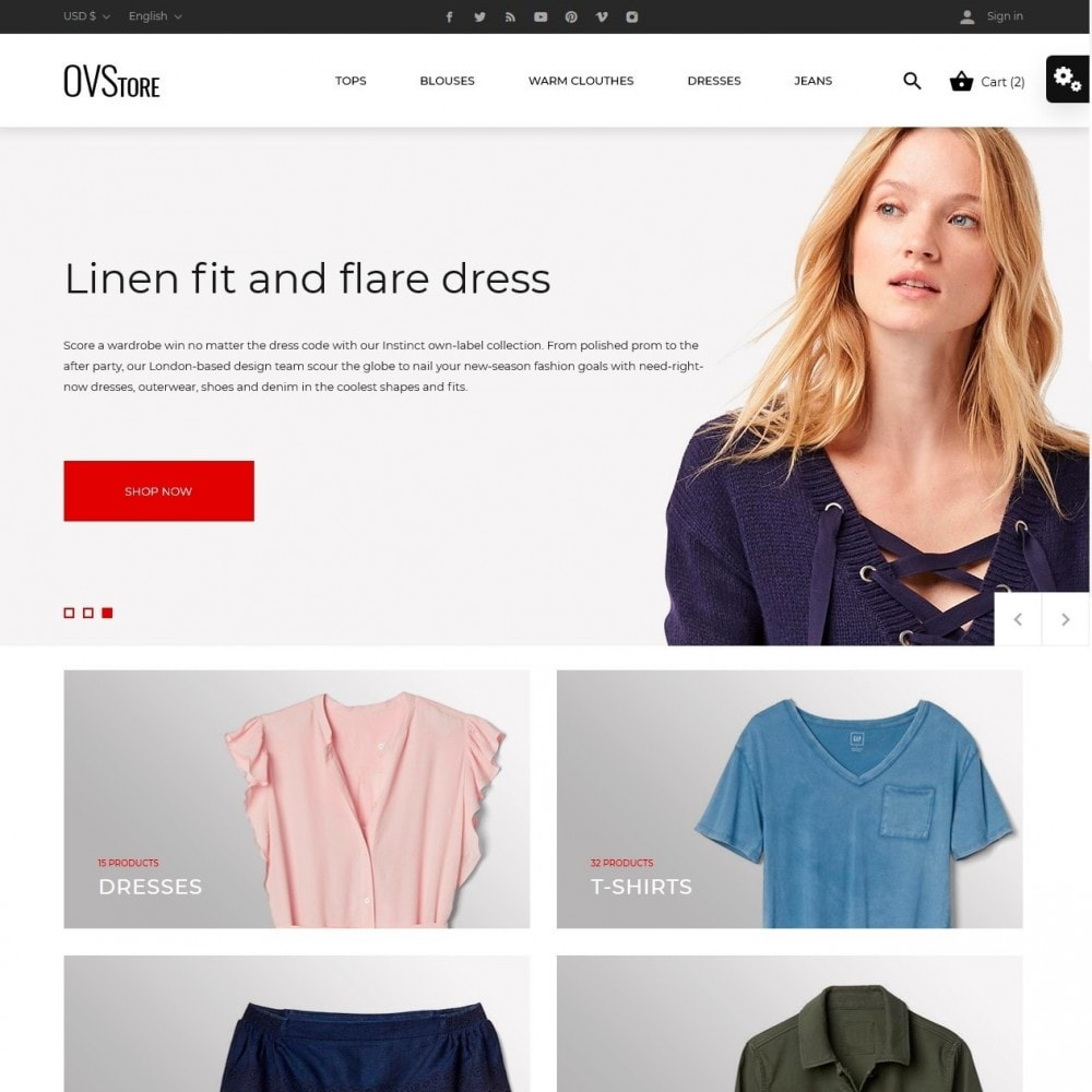 theme - Fashion & Shoes - OVStore Fashion Store - 2