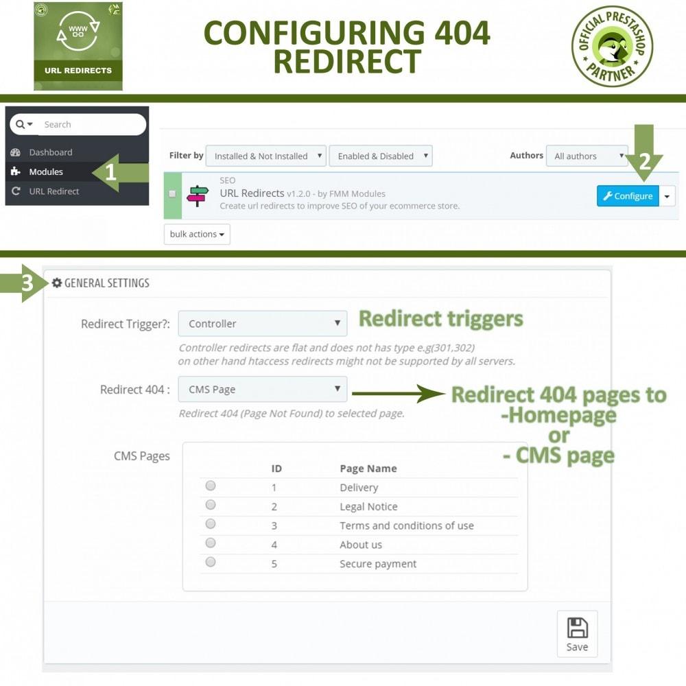 module - URL & Omleidingen - URL Redirects - 301, 302, 303 redirects & 404 URLs - 3
