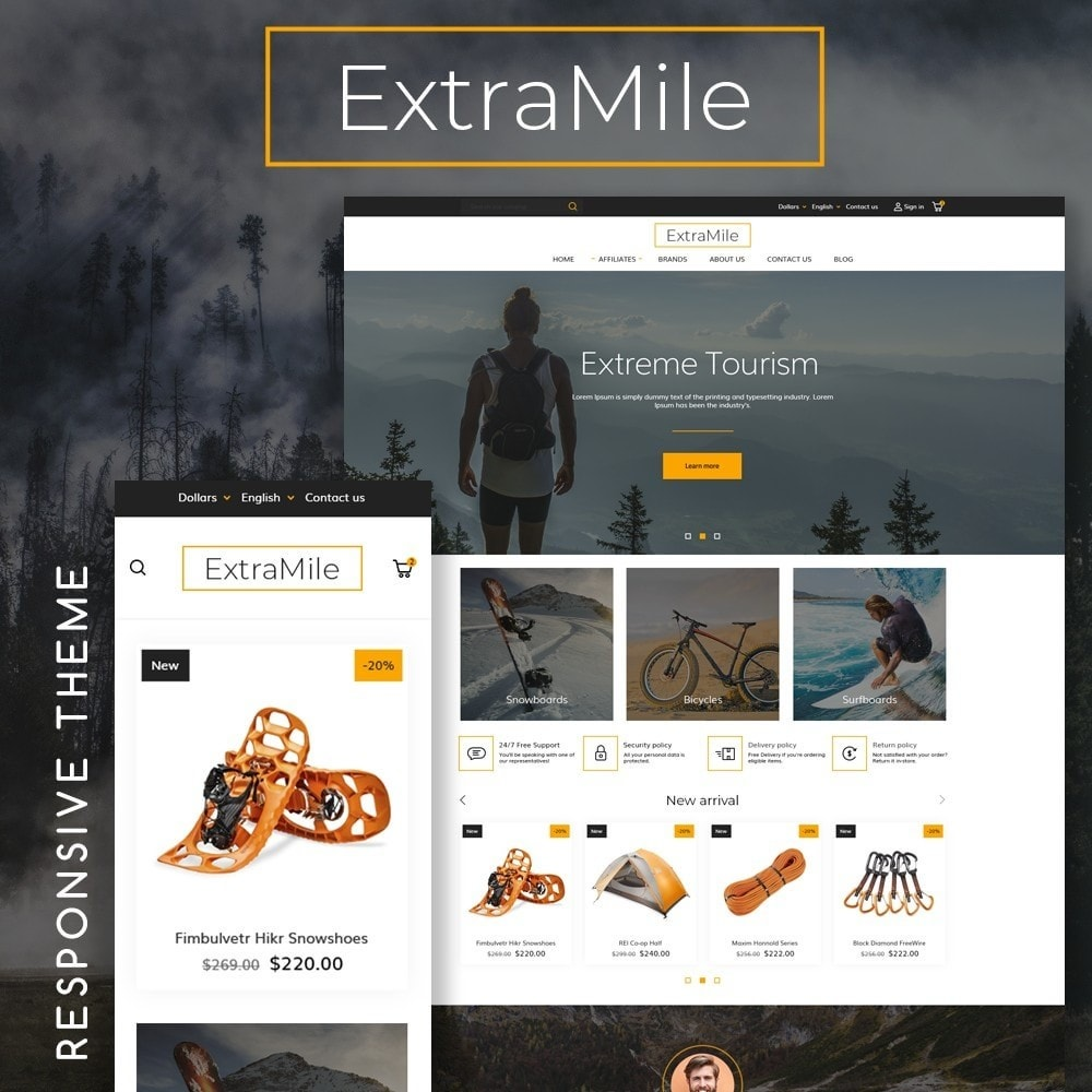 theme - Sports, Activities & Travel - ExtraMile - 1