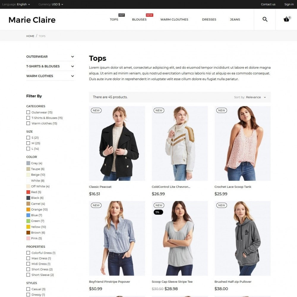 theme - Moda & Calzature - Marie Claire Fashion Store - 5