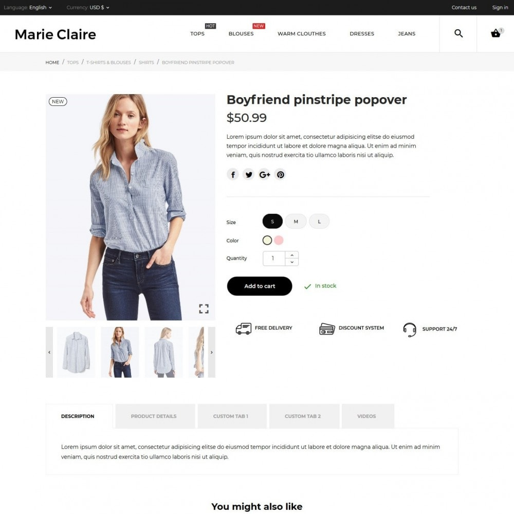 theme - Mode & Chaussures - Marie Claire Fashion Store - 7