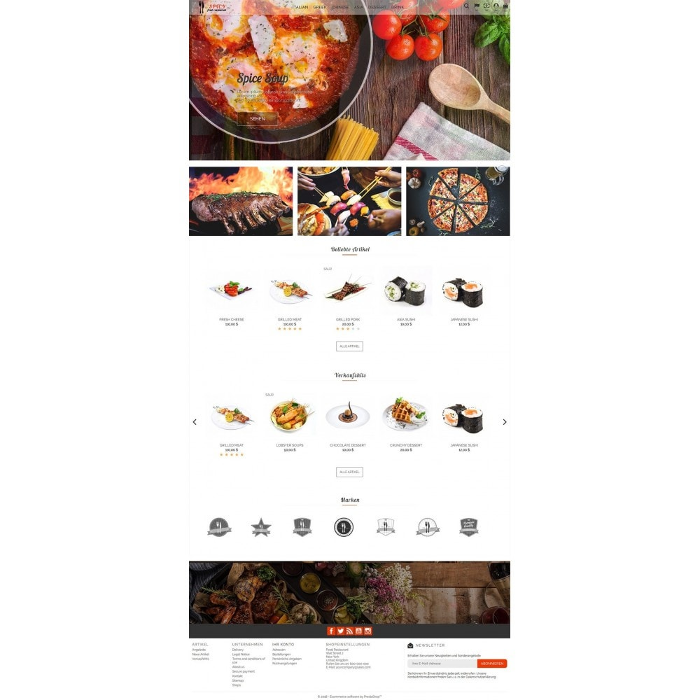 theme - Lebensmittel & Restaurants - Spicy Restaurant - 2
