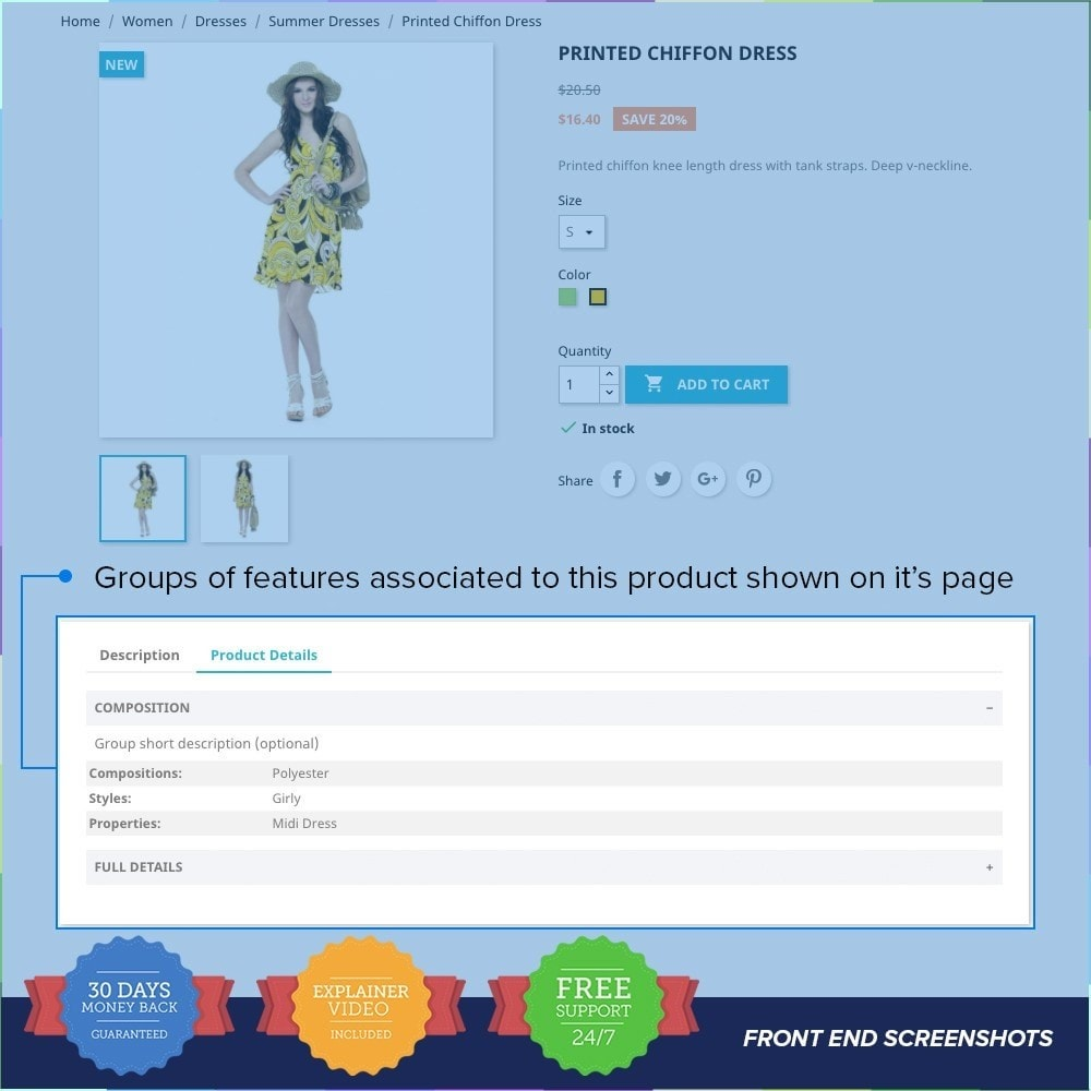 module - Personalizzazione pagine - Group Features on Product Page - 2