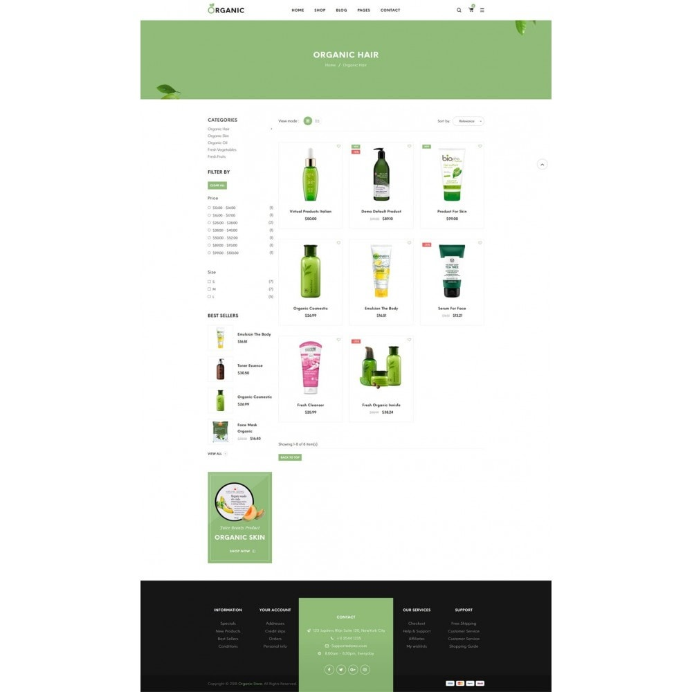 theme - Food & Restaurant - Organic Shop - 9