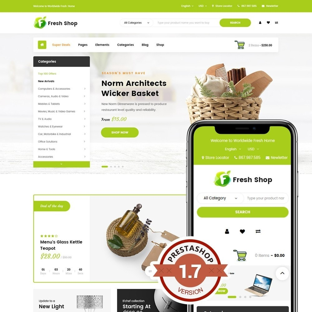 theme - Home & Garden - JMS FreshShop - 1