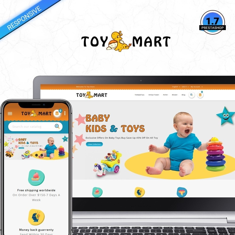 theme - Kids & Toys - ToyMart - Toy Store - 1