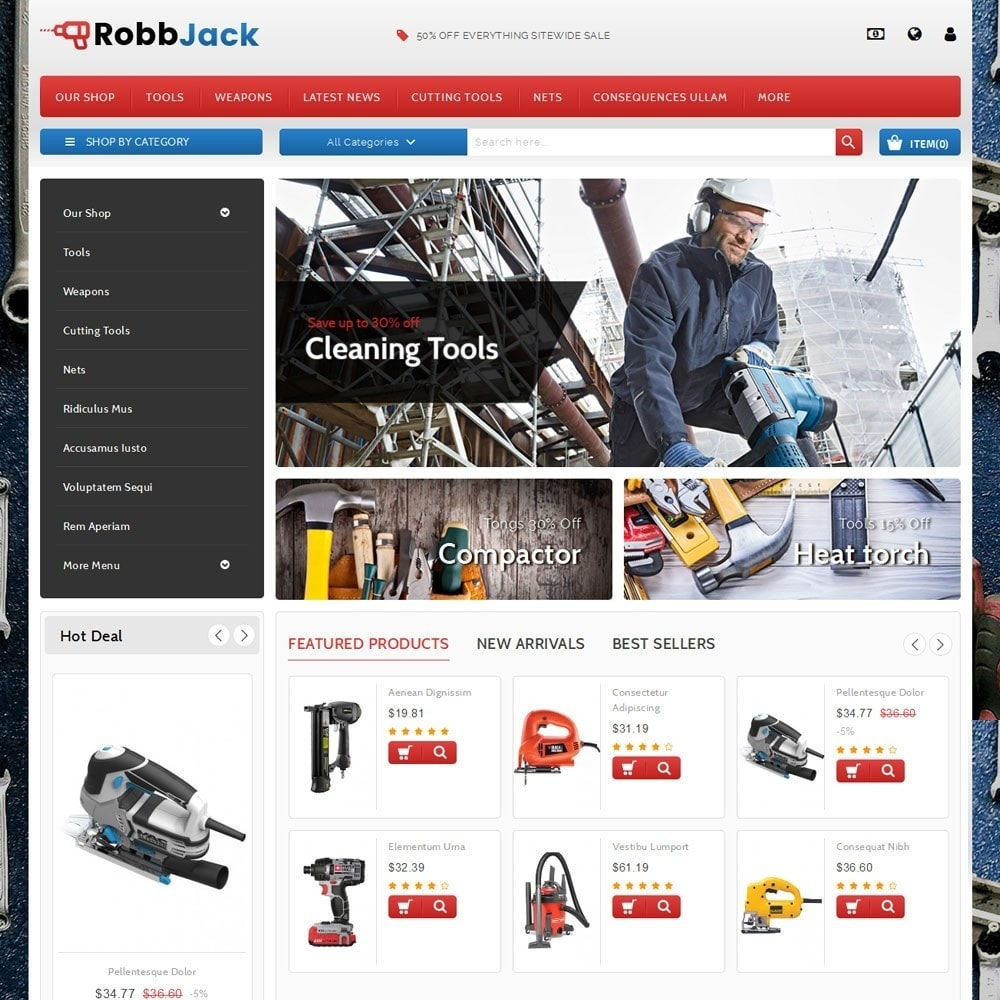 theme - Coches y Motos - Robbjack Tool Store - 2
