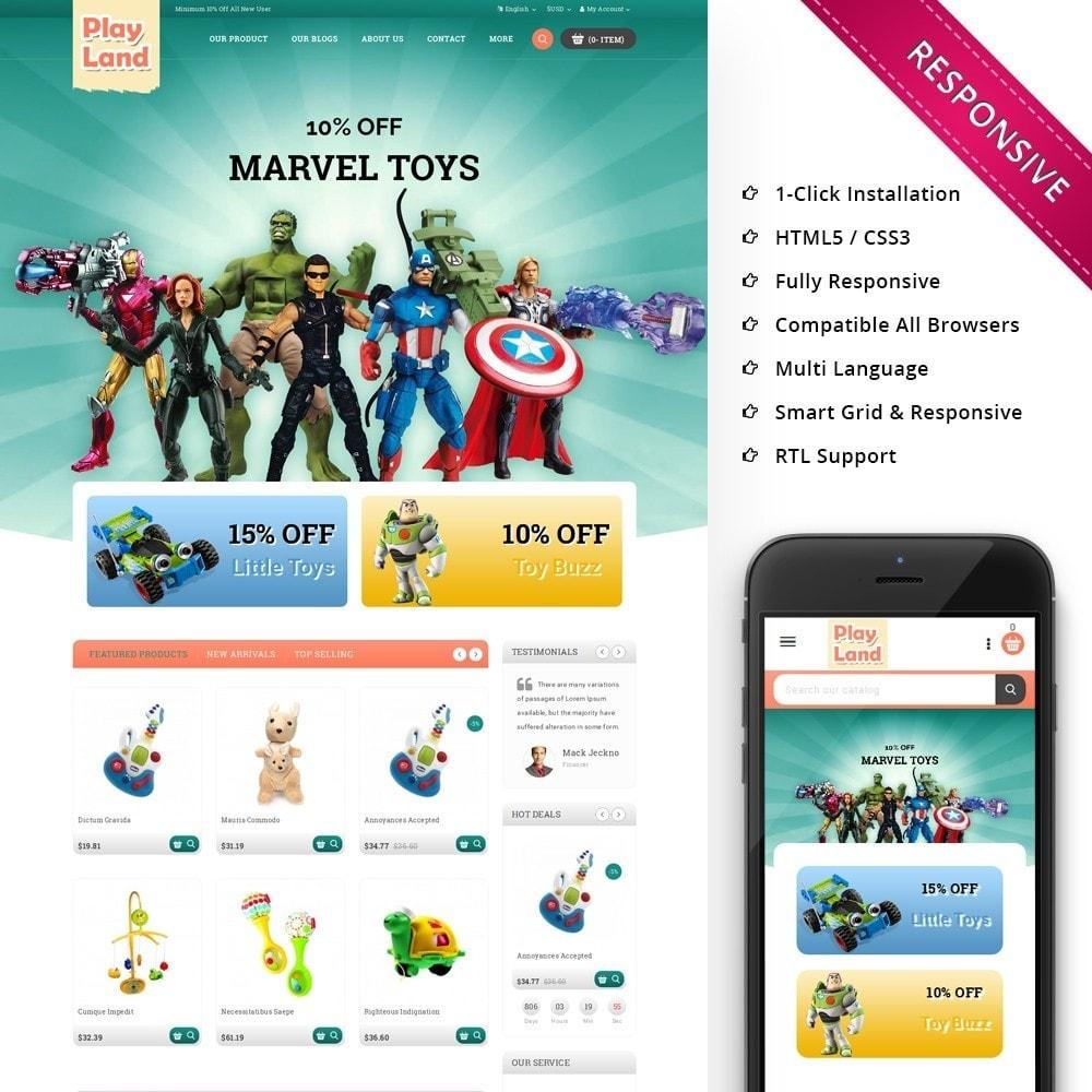 theme - Niños y Juguetes - Playland - Kids Shop - 1