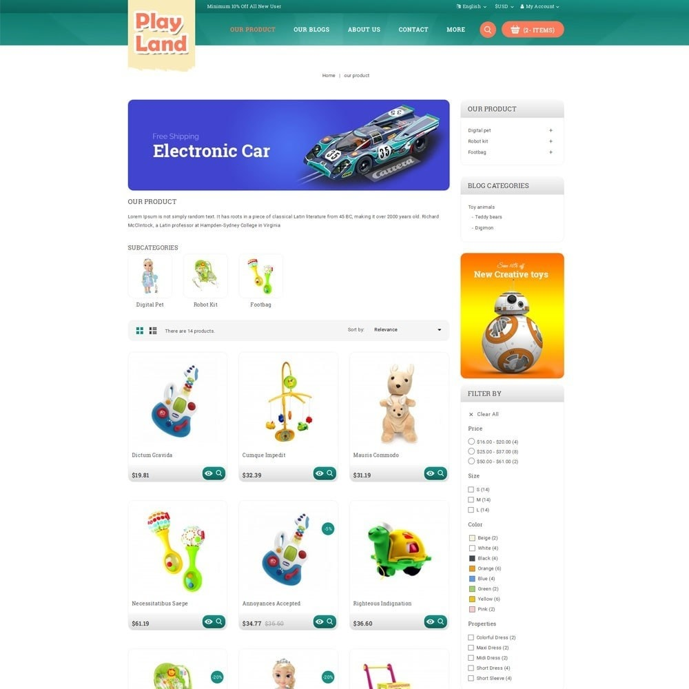 theme - Enfants & Jouets - Playland - Kids Shop - 4