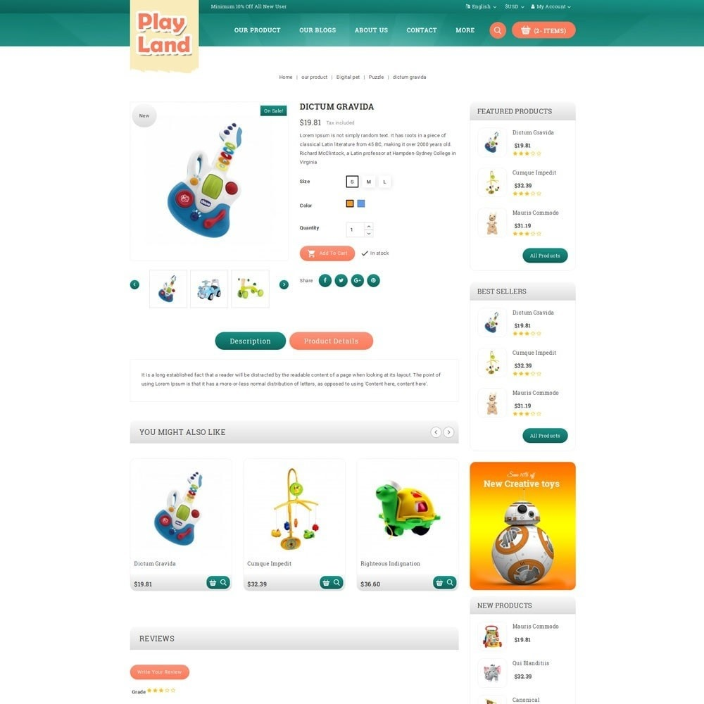 theme - Niños y Juguetes - Playland - Kids Shop - 6