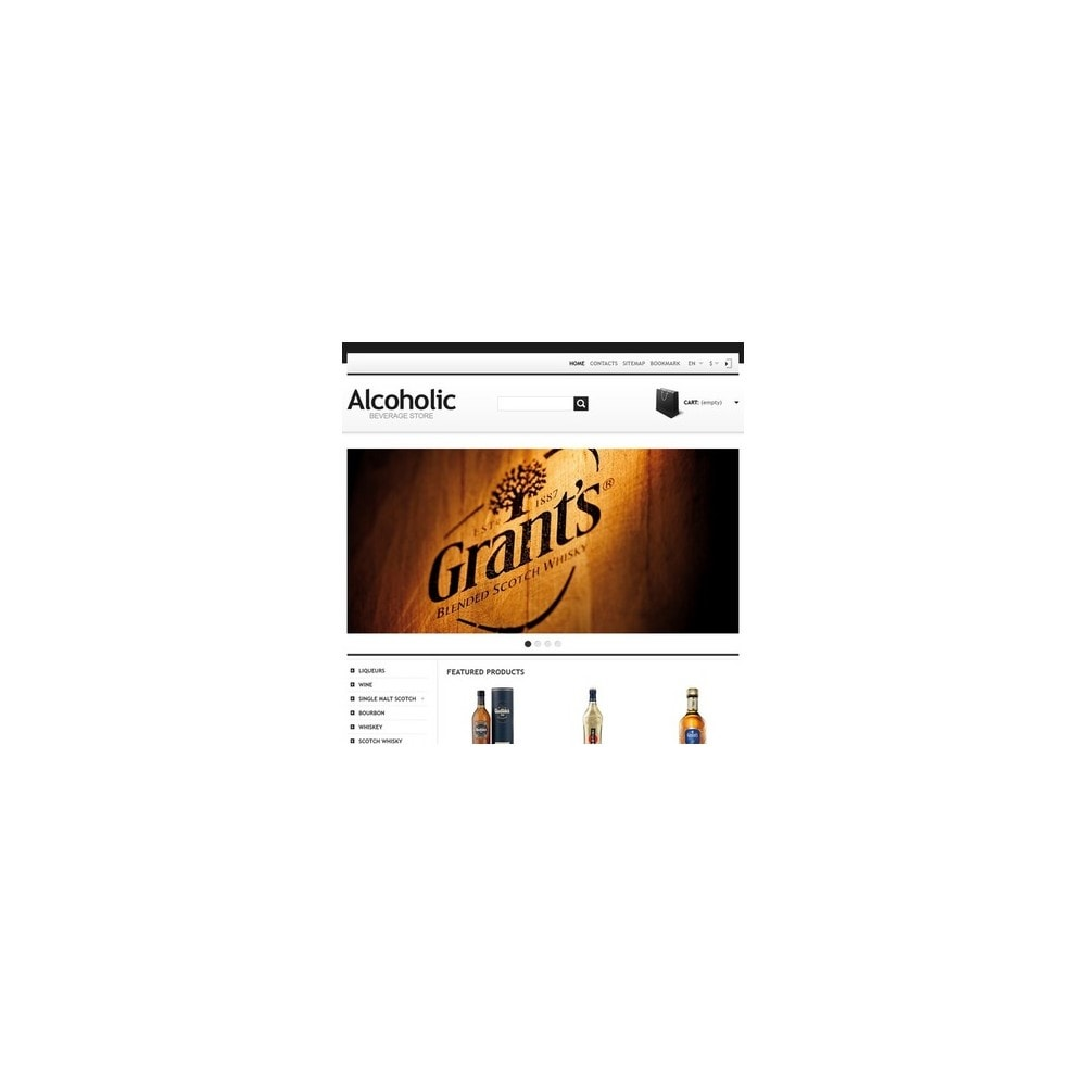 theme - Alimentation & Restauration - Alcoholic Beverage Store - 2