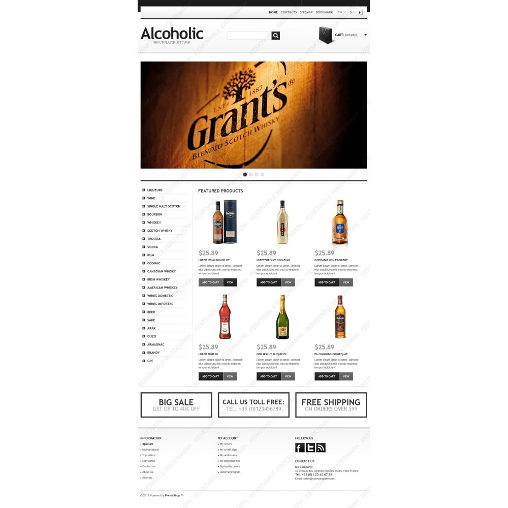 theme - Alimentation & Restauration - Alcoholic Beverage Store - 3