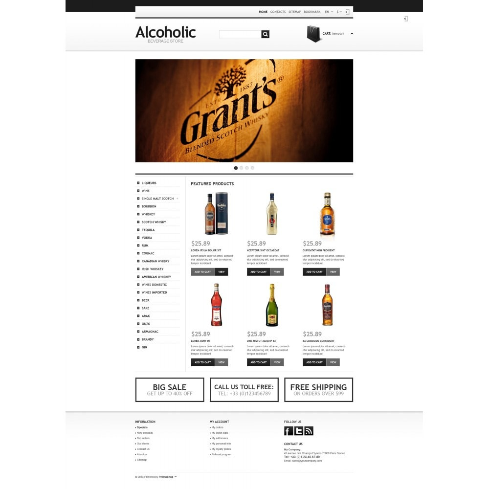 theme - Alimentation & Restauration - Alcoholic Beverage Store - 4