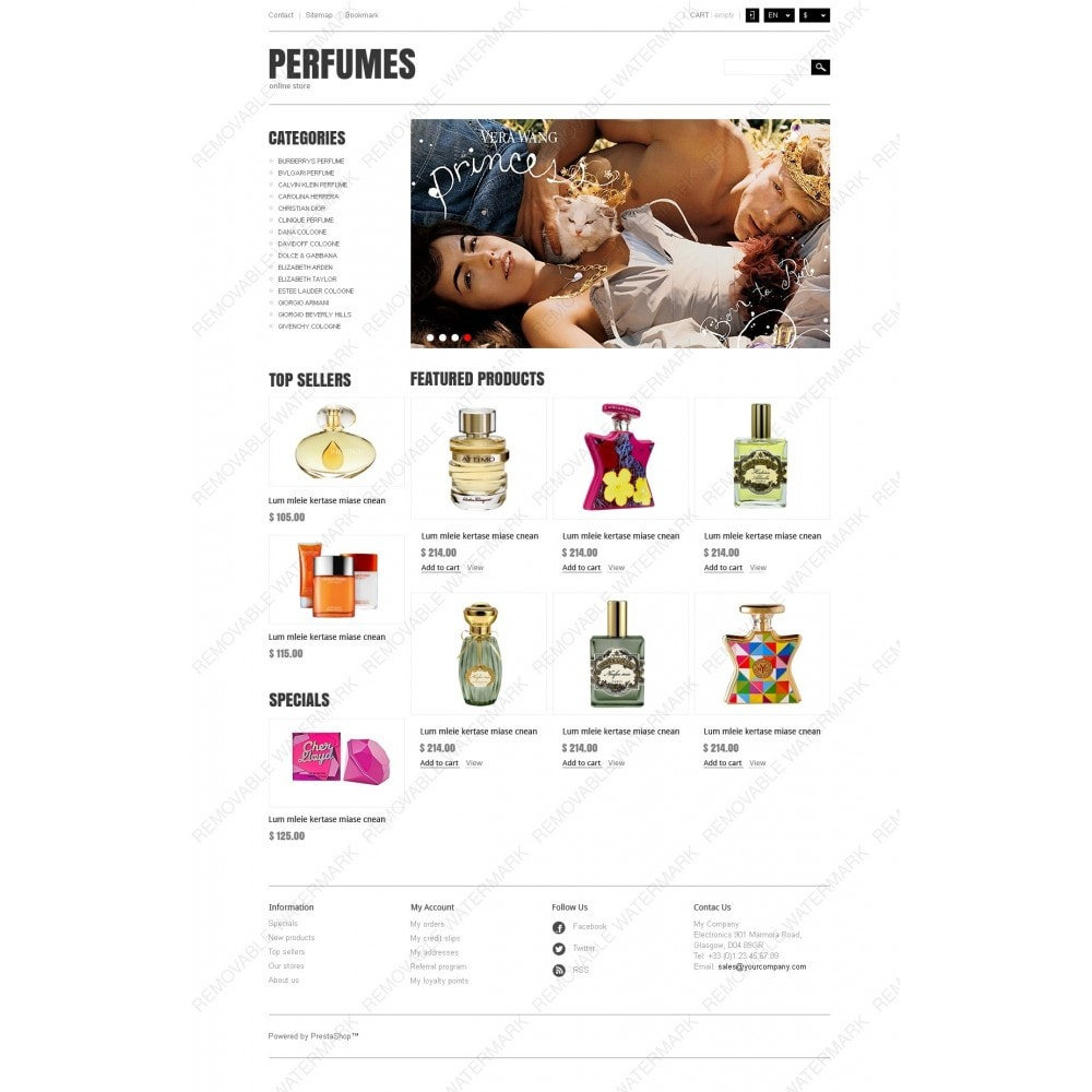 theme - Мода и обувь - Responsive Perfumes Store - 3