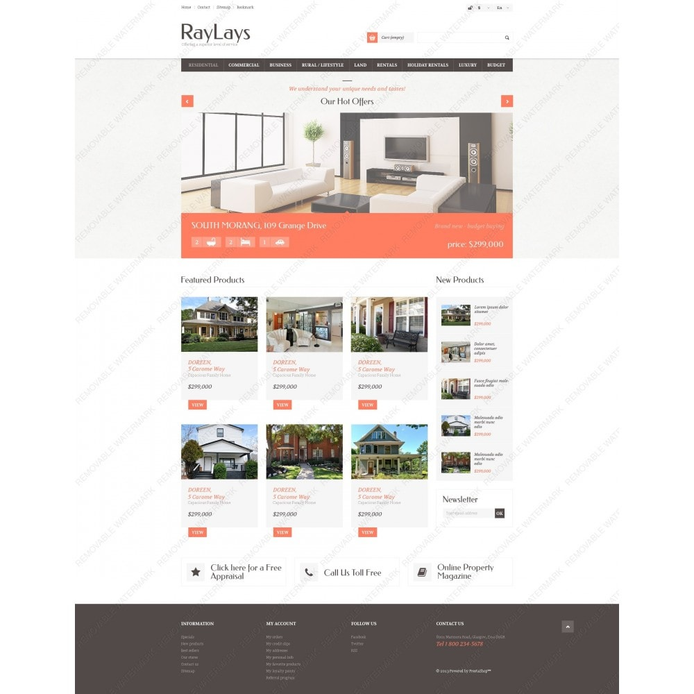theme - Temas PrestaShop - Responsive Real Estate Store - 6