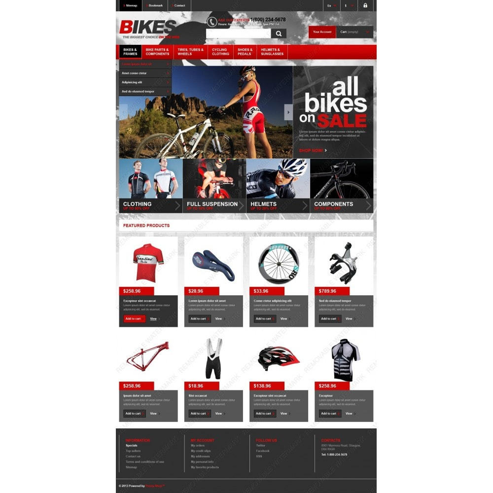 theme - Sport, Aktivitäten & Reise - Responsive Bikes Store - 4