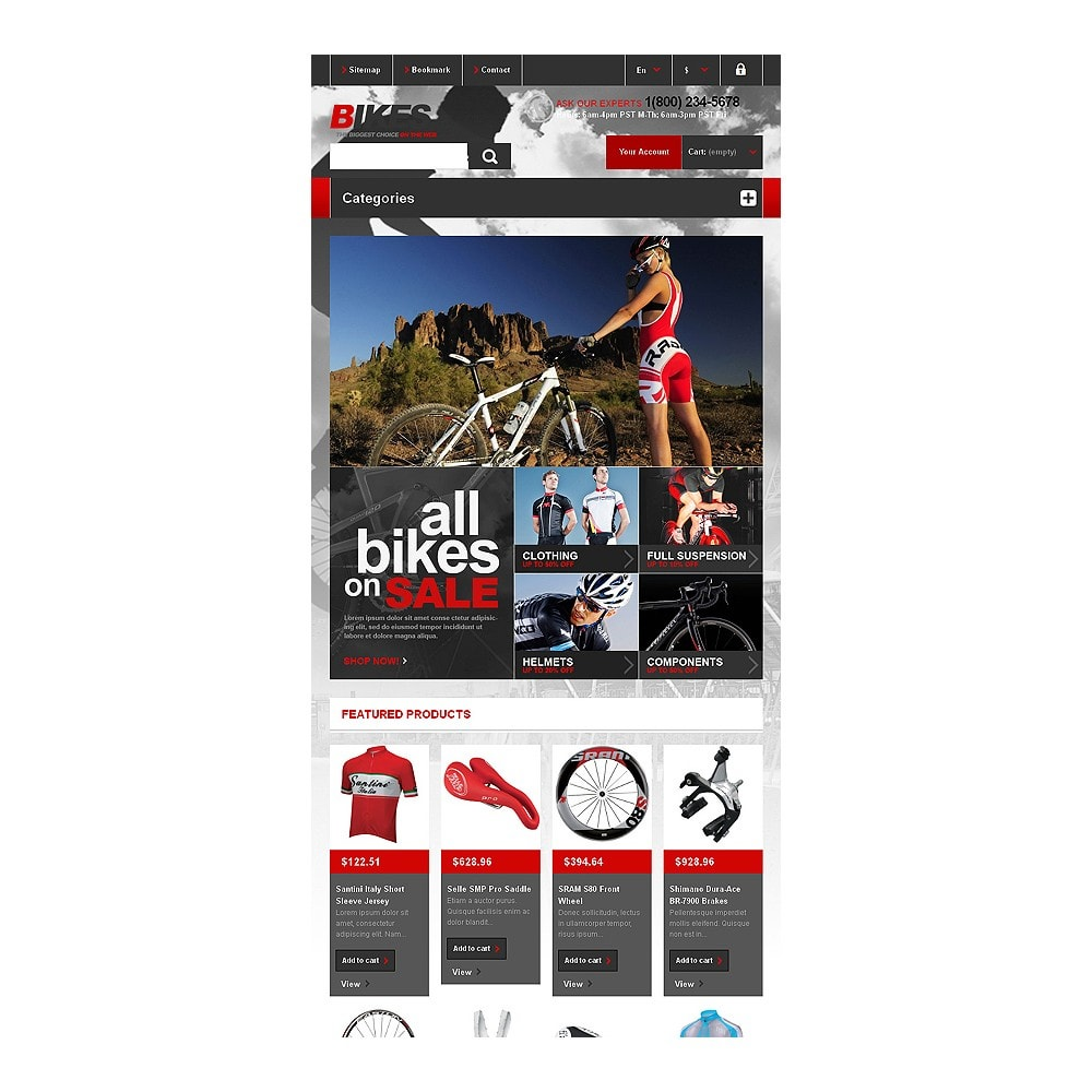 theme - Sport, Loisirs & Voyage - Responsive Bikes Store - 8