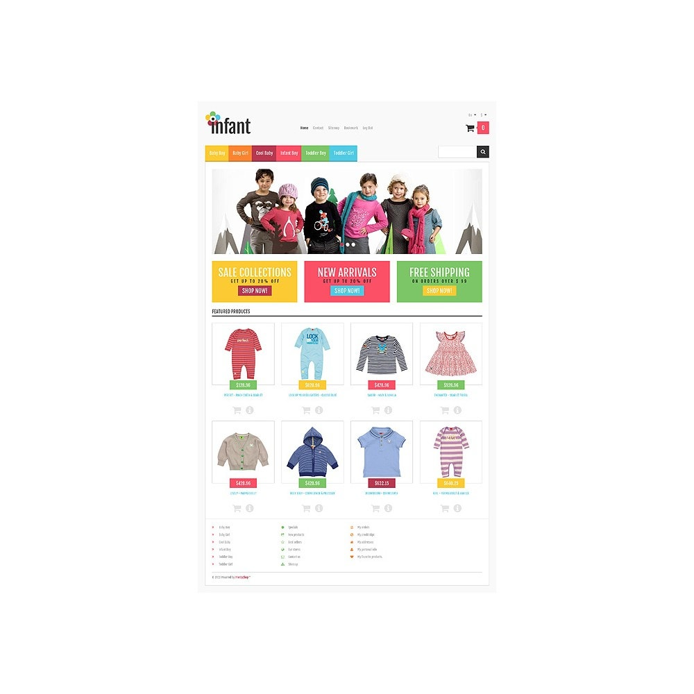theme - Moda & Calzature - Responsive Infant Shop - 11