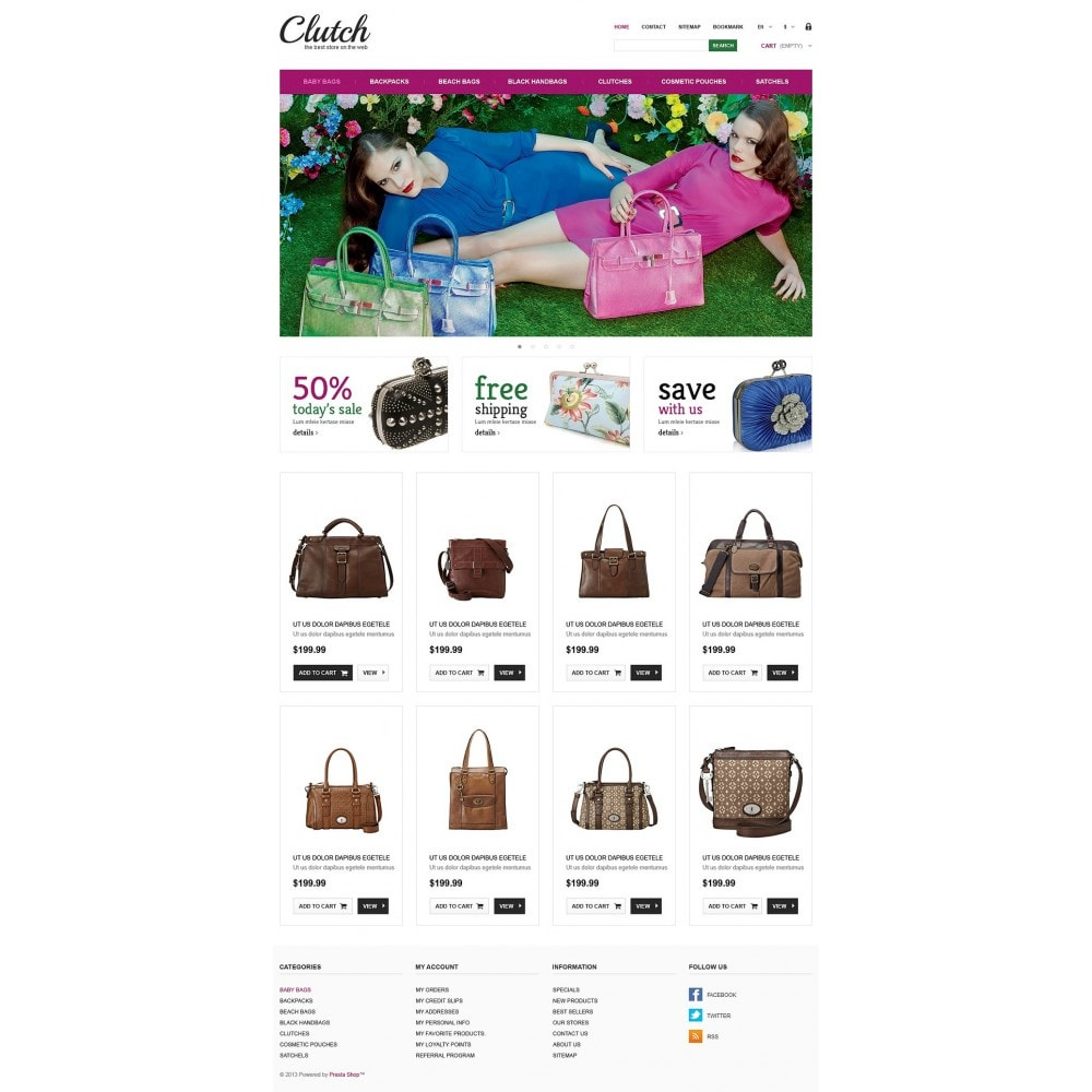 theme - Fashion & Shoes - Responsive Bags Store - 2