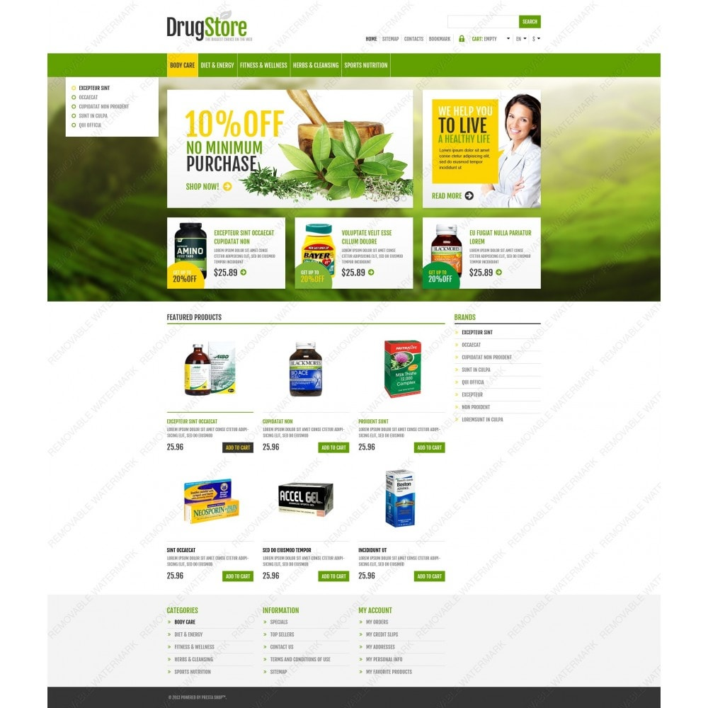 theme - Health & Beauty - Responsive Drug Store - 6