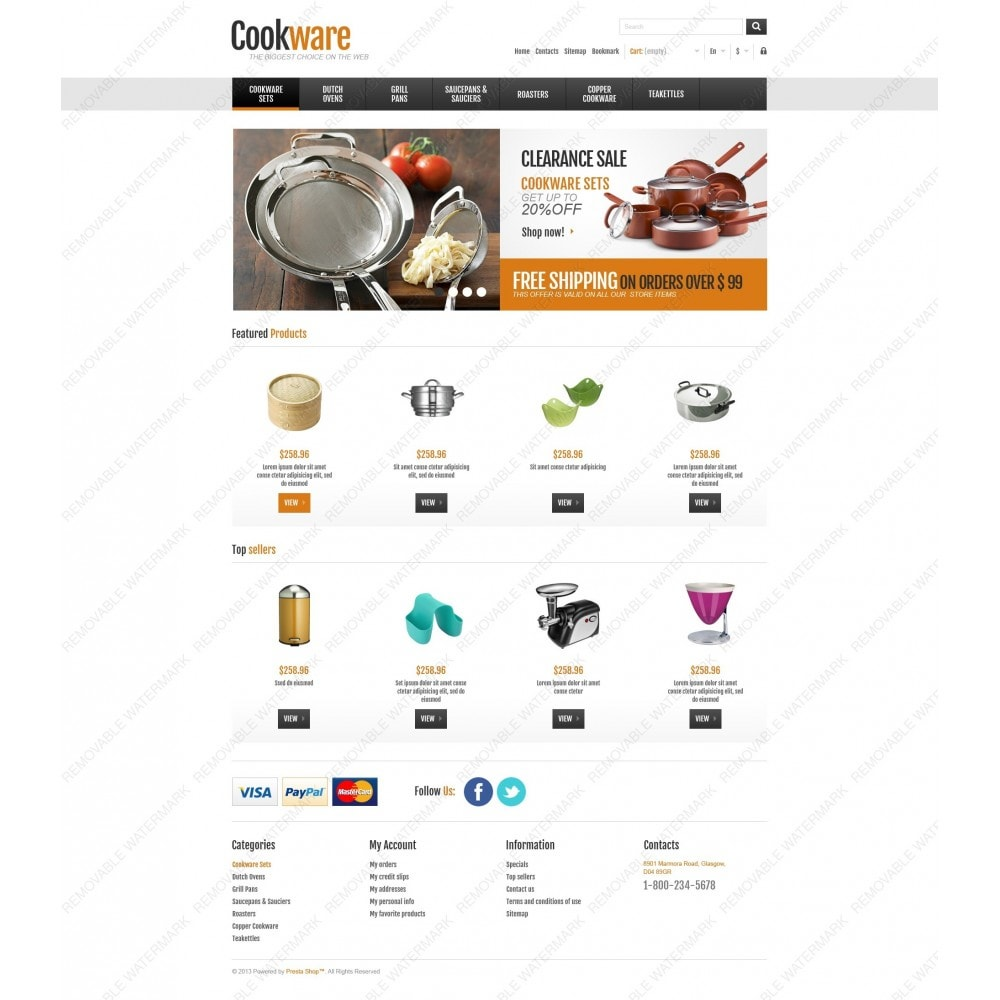 theme - Искусство и Культура - Responsive Cookware Shop - 6