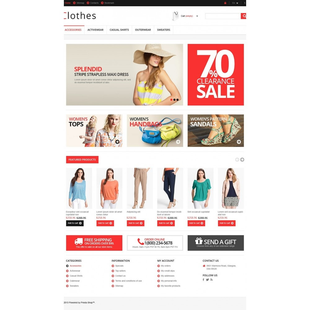 theme - Mode & Schuhe - Responsive Clothing Store - 2