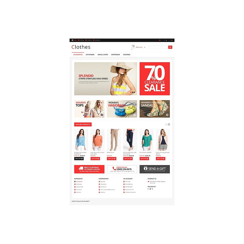 theme - Fashion & Shoes - Responsive Clothing Store - 11