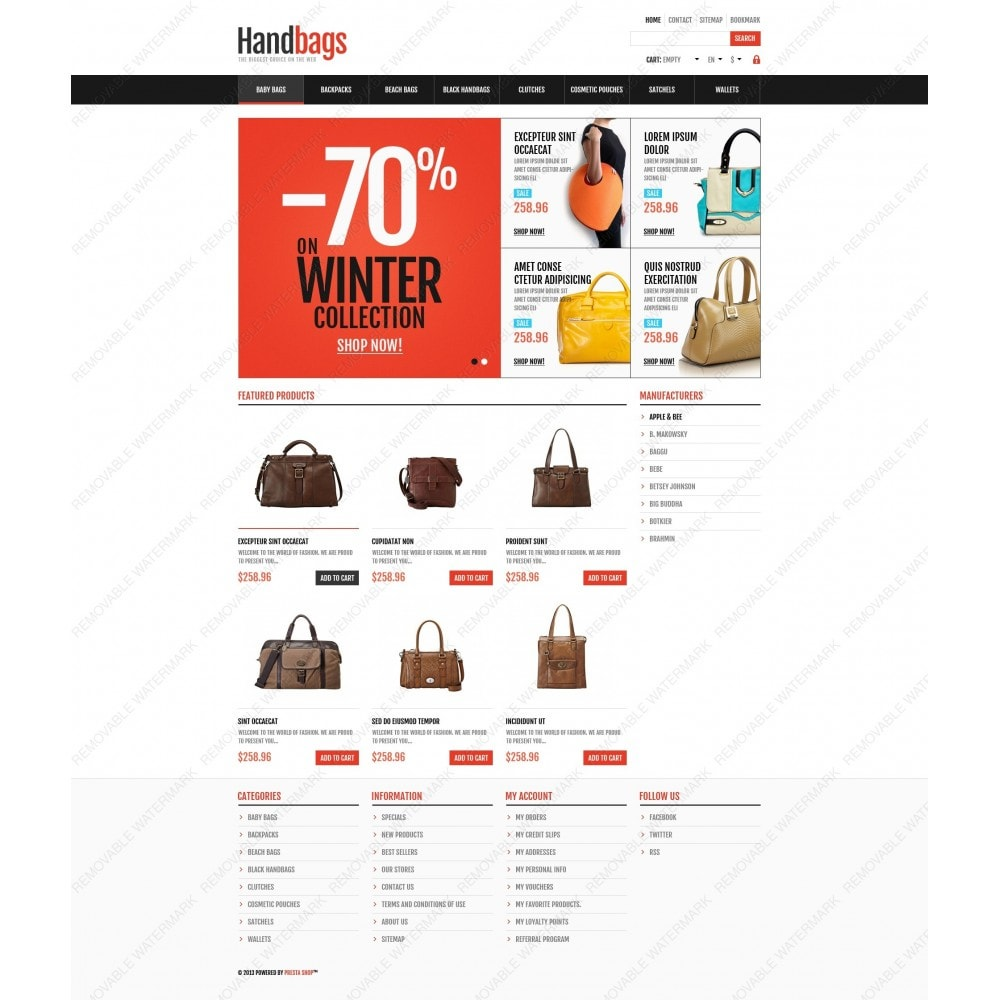 theme - Moda & Calçados - Responsive Handbags Store - 6