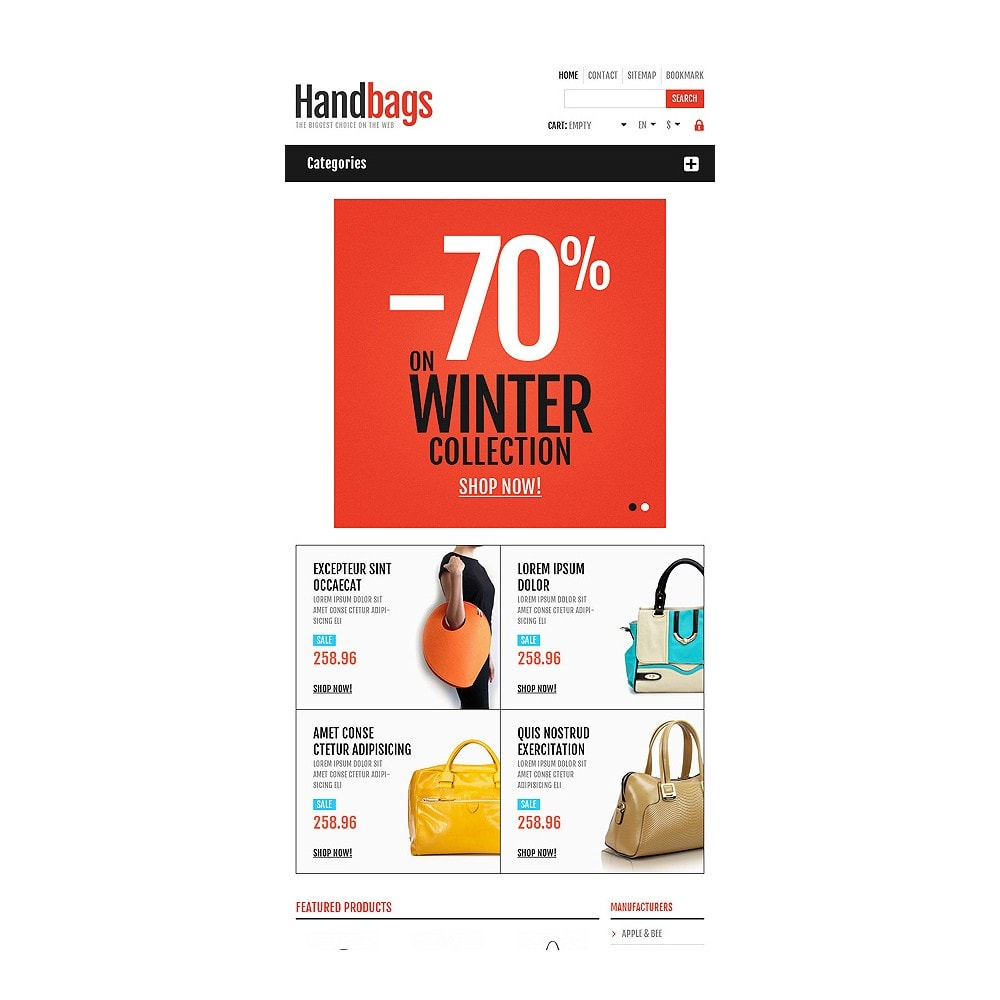 theme - Moda & Calzature - Responsive Handbags Store - 8