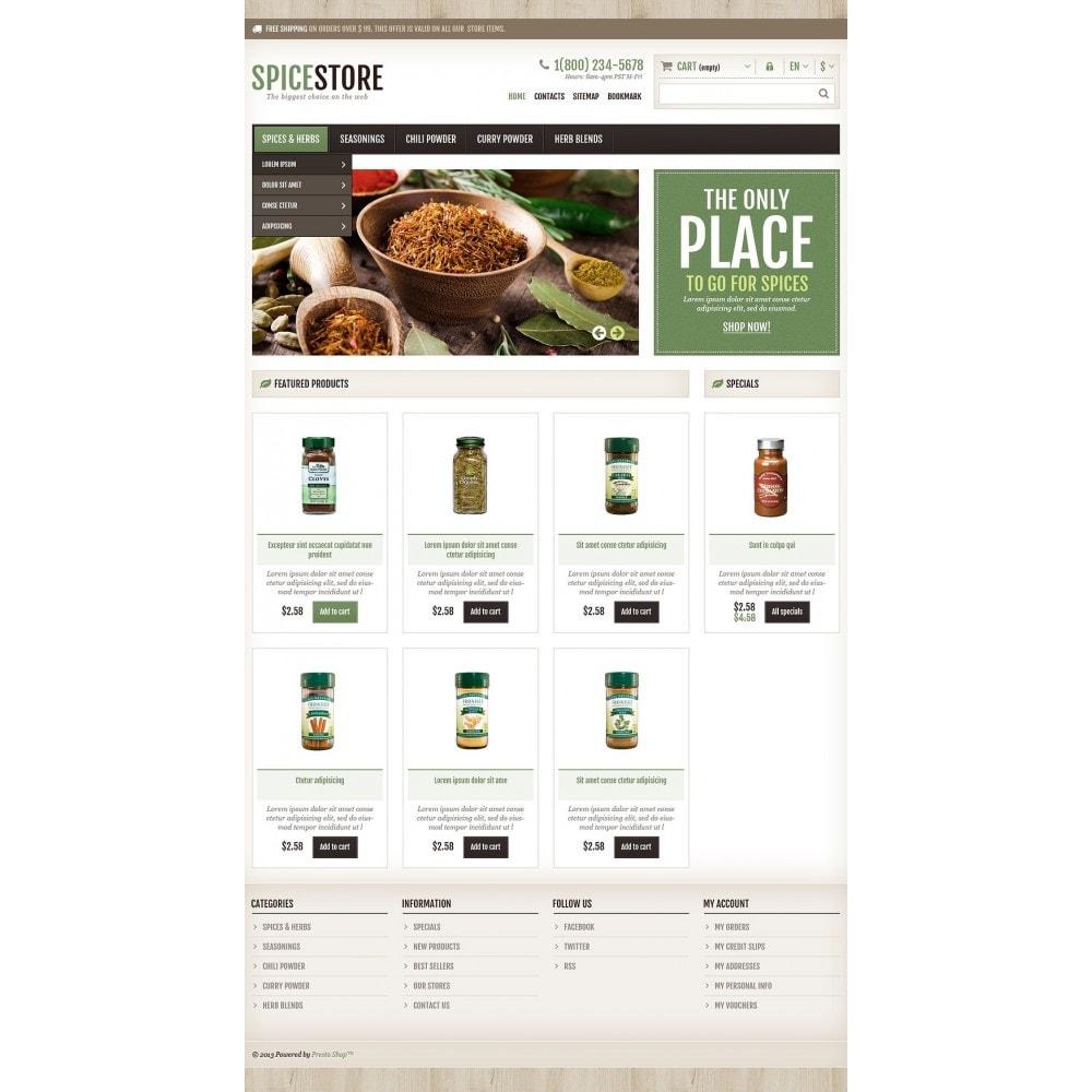theme - Gastronomía y Restauración - Responsive Spice Store - 2
