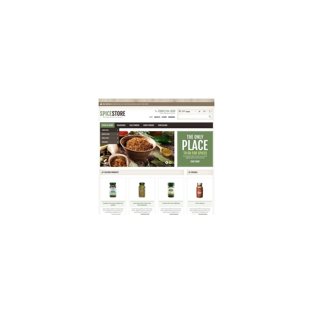theme - Gastronomía y Restauración - Responsive Spice Store - 3