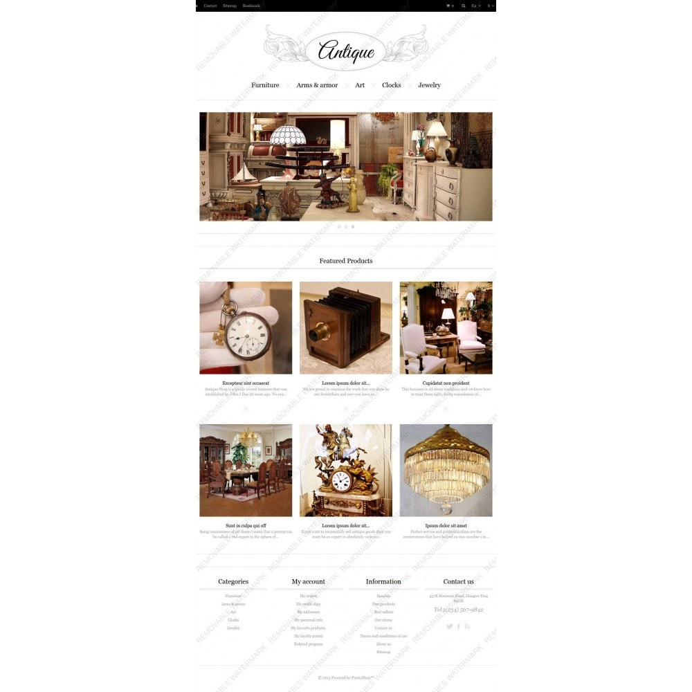 theme - Hogar y Jardín - Responsive Antiques Store - 4