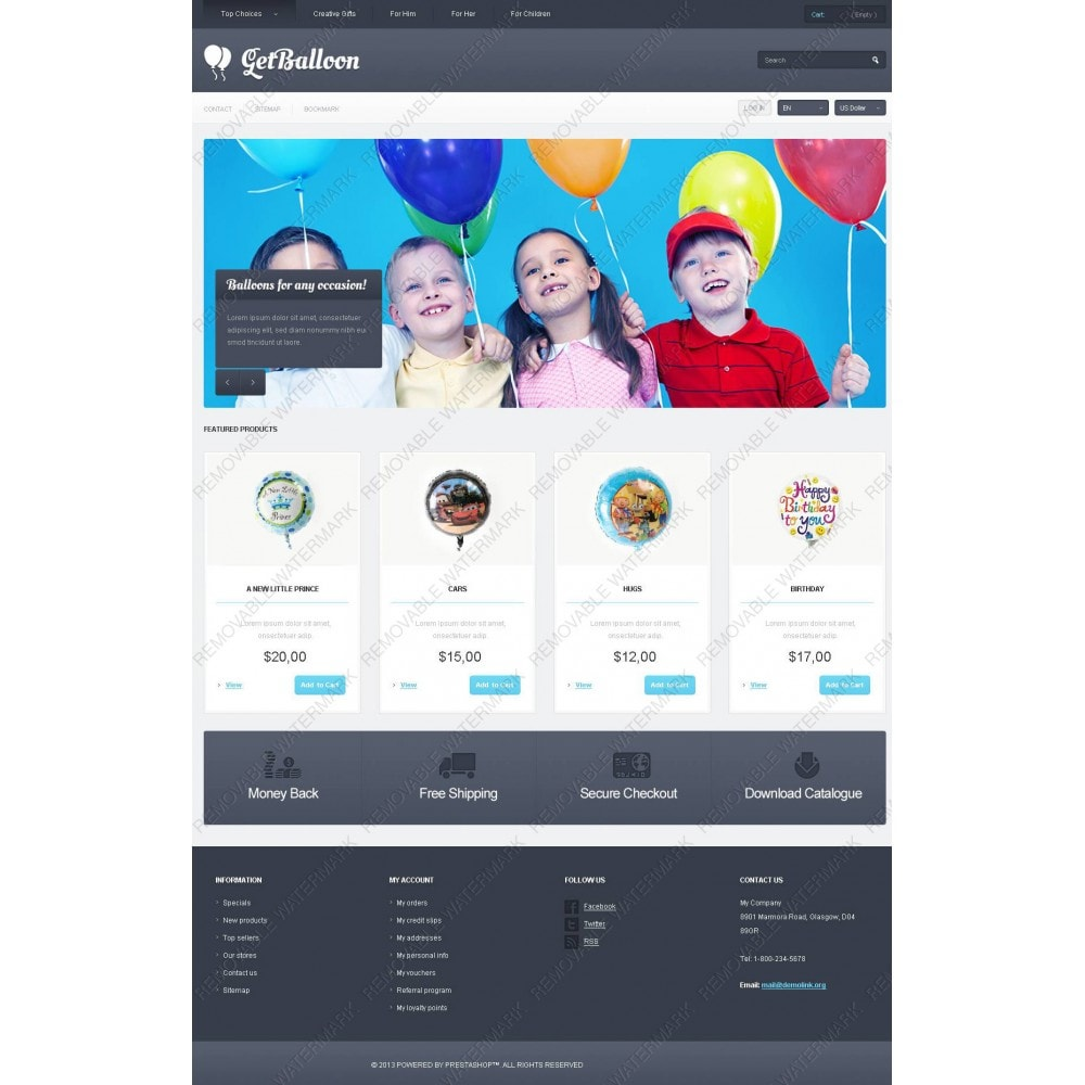 theme - Kinder & Spielzeug - Responsive Balloons Store - 3