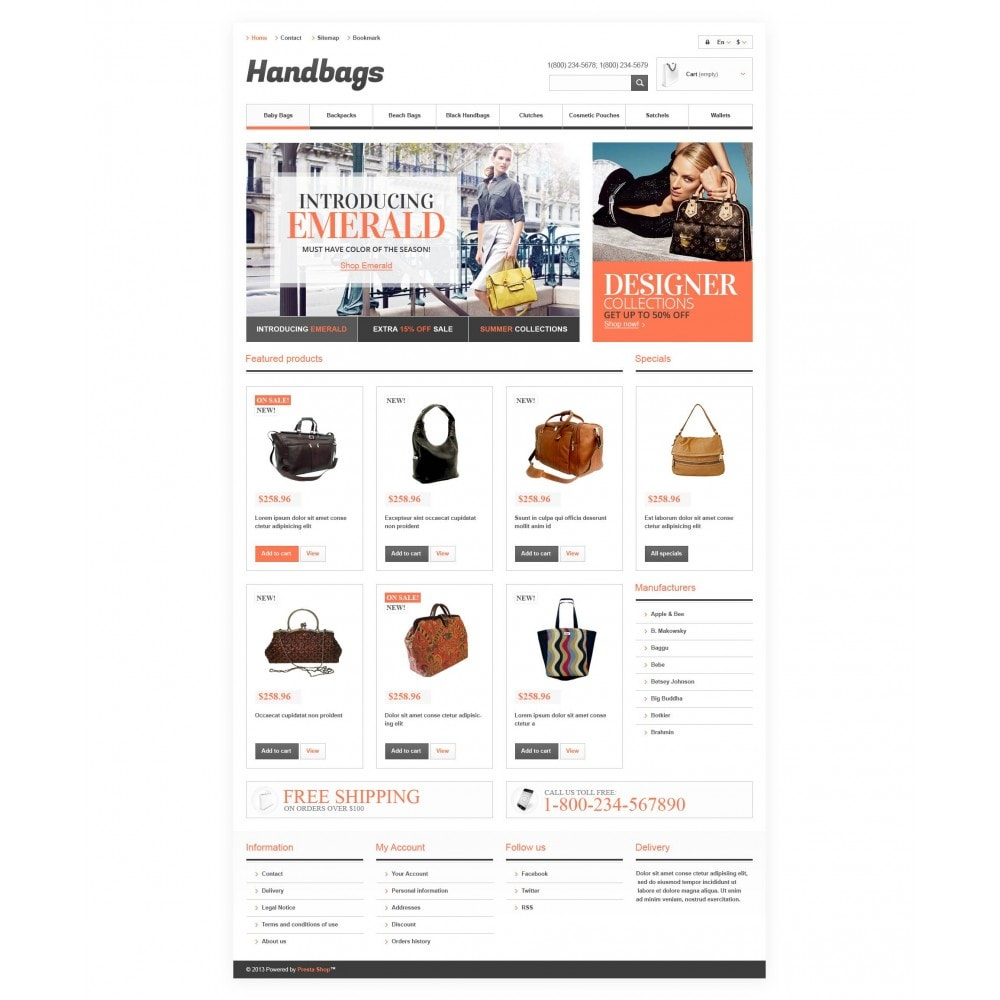 theme - Mode & Chaussures - Responsive Handbags Boutique - 4