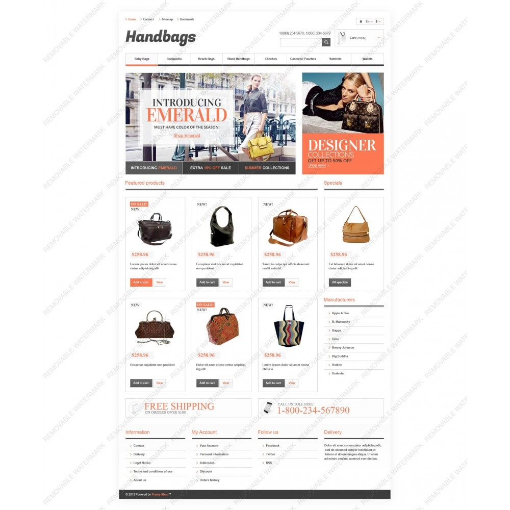 theme - Mode & Chaussures - Responsive Handbags Boutique - 5