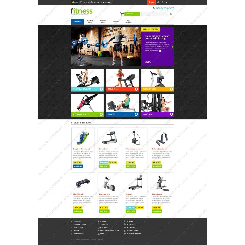 theme - Deportes, Actividades y Viajes - Responsive Fitness Store - 5